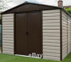 10x12 METAL GARDEN SHEDS YARDMASTER SHED 10ft x 12ft APEX FLOOR STORAGE GUTTERS