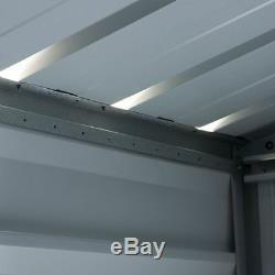 10x12 METAL GARDEN SHEDS YARDMASTER SHED 10ft x 12ft APEX STEEL STORAGE GUTTERS