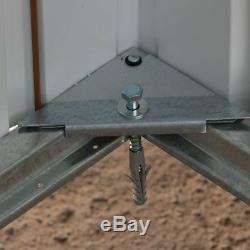 10x13 YARDMASTER METAL GARDEN SHED 10ft x 13ft APEX GALVANISED DOUBLE DOOR STORE