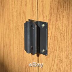 10x8 METAL APEX SHED GARDEN STEEL STORE STORAGE BROWN DOUBLE DOORS 10ft x 8ft
