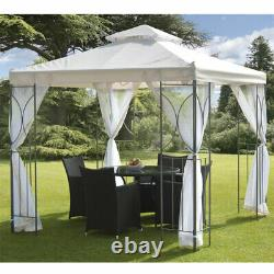 2.5m Cream Outdoor Metal Polenza Garden Wedding Party Curtains Tent Gazebo