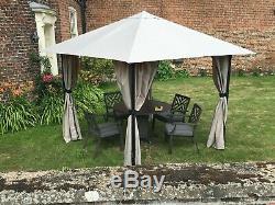 3m x 3m Gazebo Marquee Heavy Duty Garden Tent Waterproof With Full Side Curtains