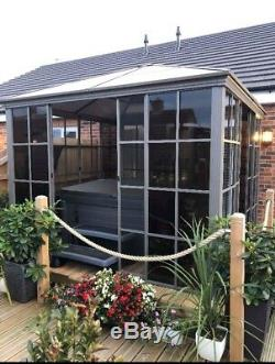 3x3m Strong Gazebo, Solid Sided Gazebo, Garden Room, Hot Tub Cover Canopy Gazebo
