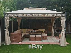 3x4M Metal Gazebo Pavilion Garden Tent Canopy Sun Shade Shelter Marquee Greenbay