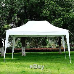 4.5x3m Garden Pop Up Gazebo Marquee Party Tent Wedding Canopy White Heavy Duty