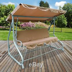 4 Seater Swinging Hammock Outdoor Garden Patio Swing Chair Seat Bench Cushioned