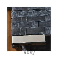 4 seats outdoor sofa rattan garden furniture set Ocean grey CANNES