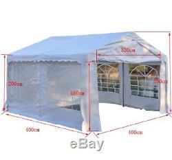 4M x 4M Gazebo Garden Marquee Canopy Party Car Shelter Garage Tent Carport White