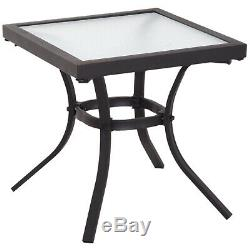 5 Pc Sun Lounger Set Chair Foot Rest Table Adjustable Garden Recliner Patio