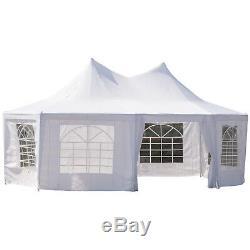 6.8x5M Octagonal Party Tent Gazebo Heavy Duty Wedding Marquee Garden Pagoda Tent
