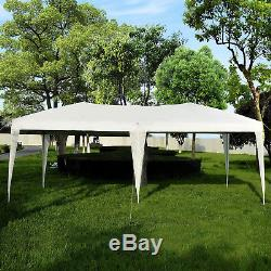 6m x 3m White Garden Heavy Duty Pop Up Gazebo Marquee Party Tent Wedding Canopy