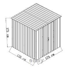 6x4 Garden Storage Metal Shed Unit Furniture Bike Patio Tool Organizer Outdoor