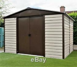 802 Yardmaster Shiplap Metal Garden Shed Maximum External Size 9'11x 12'4