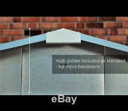844 Yardmaster Green Apex Metal Garden Shed Maximum External Size 6'8x 4' 6