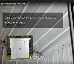 898 Yardmaster Metal Garden Store Maximum External Size 6'6W x 3'11D x 4'4H