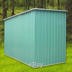 8x4', 8x6', 8x8', 8x10' Heavy Duty Metal Garden Shed Storage Garage House Outdoor