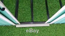 8x6 Metal Garden Shed Storage 2 Door Pent Roof Free Base Foundation Outdoor NEW