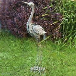 93cm Large Metal Heron Garden Outdoor Statue Ornament High Quality Gift Idea