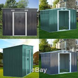 Apex / Pent Roofed Metal Shed L XL Garden Storage Unit Sheds 6x4, 8x4, 10x8 FT