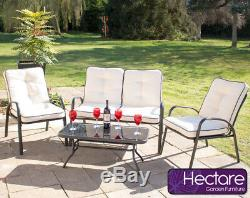 Armchairs & Coffee Table Garden Leisure Outdoor Dining Furniture Set No Bench
