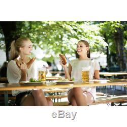 Beer Table Bench Set Folding Trestle Outdoor Wooden Garden Furniture Party 170cm