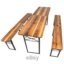 Beer Table Set Outdoor Beer Tent Garden Beer Bench Beer Table Wood foldable