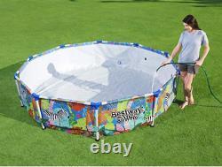 BestWay SWIMMING POOL 305 cm 10FT Garden Round Frame Above Ground Pool Steel Pro