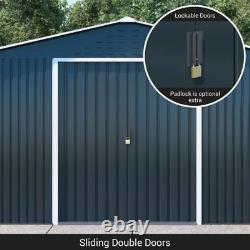 BillyOh Partner Metal Garden Shed Apex Roof Heavy Duty Galvanised Steel Storage
