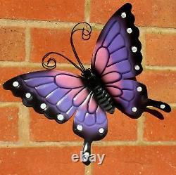 Butterflies X 4 Coloured Outdoor Large Metal Butterfly Garden Wall Art Decorate