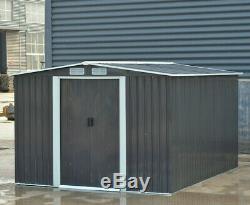 Buy Apex Heavy-Duty Steel Outdoor Shed Metal Garden Storage Shed + Base