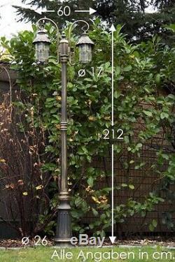 Candelabra outdoor lamp post classic garden path light victorian style 105116