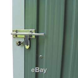 Charles Bentley Garden Shed in Green Made of Steel Weather Proof
