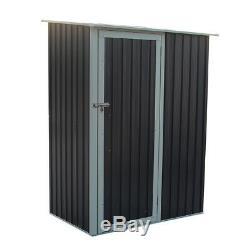 Charles Bentley Storage Shed Metal Small Roof Door Garden Outdoor Apex