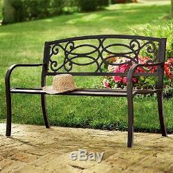 Classic Garden Outdoor Metal Bench 3 Seater Park School Kids Adult Bench Seat