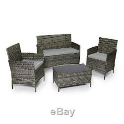 CosmoLiving Grey Madrid Outdoor Garden Furniture Set Conservatory Patio Lounge 4