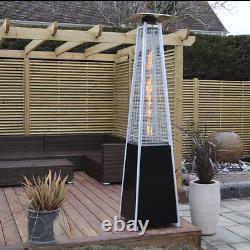 Dellonda Freestanding Gas Pyramid Patio Heater Outdoor Garden Glass Tube 13kW