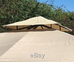 Dorset Metal Garden Gazebo (2.9 x 2.9m) Pavilion Awning Canopy Sun Shade Shelter