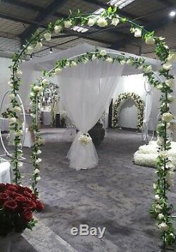 FREE STANDING ARCH ARCHWAY WEDDING BALLOON GARDEN GREEN 2.4m x 1.8m