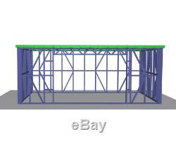 GARDEN BUILDING METAL FRAME 4m x 2.5m HOME OFFICE SUMMER HOUSE STEEL GARDEN ROOM
