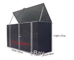 Galvanized Metal Large Storage Garden Shed Bike Unit Tools Bicycle Store New