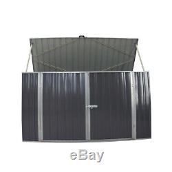 Galvanized Metal Steel Large Storage Garden Shed Bikes Unit Tools Bicycle Store