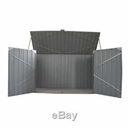 Garden Bike Shed Tool Storage Shed Unit House Galvanized Metal Steel Bicycle Box