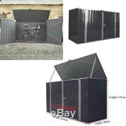 Garden Black Bike Shed Storage Metal Pent Tool Shed Home House Galvanized Steel