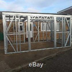 Garden Building Metal Frame, garden room, gym, home office, summer house, 3mx3m