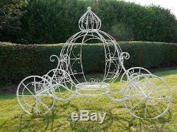 Garden Cinderella Carriage Garden Planter, Princess Carriage Ornament For Garden