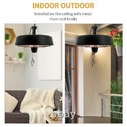 Garden Electric Heater Patio Ceiling Hanging Halogen Infrared Light 1KW / 2.5KW