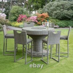 Garden Furniture Table Bar Rattan Wicker 6 Seater Parasol Ice Bucket RRP £1500
