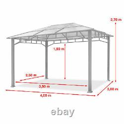 Garden Gazebo 3x4m loft grey outdoor tent garden shade canopy waterproof
