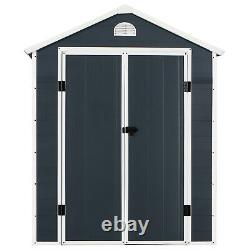 Garden Storage Shed Outdoor Patio Shed With Latch Window 6ft x 6ft