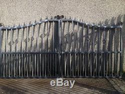 Gate, Drive Gate, Metal Iron Gate, Security Gate, Wrought Iron Garden Gate 01